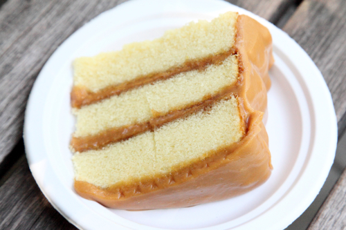 Caramel cake  Sugaree's Bakery  Big Apple Barbecue Block Party  Madison Square  Manhattan