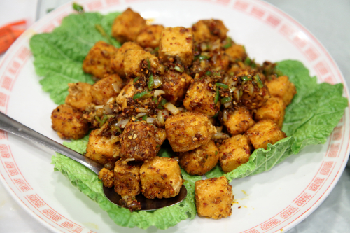 Tofu with cumin  Szechuan House  Flushing  Queens
