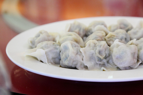 Pork-and-chive dumplings  Dumpling Galaxy  Flushing  Queens