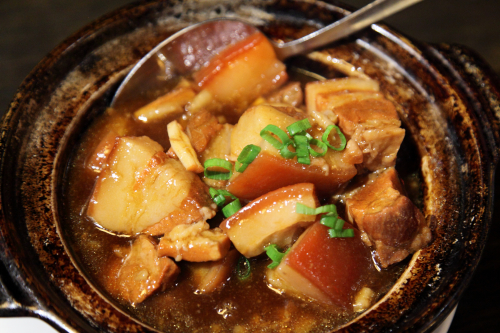 Braised pork with cherry (in reality  grape)  Szechuan Mountain House  Flushing  Queens