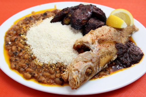 Yoke gari with red snapper  Madison African Caribbean Cuisine  East 108th St  Manhattan