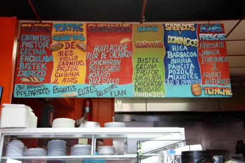 Hand-drawn menu board  J Sazon  Passaic  New Jersey