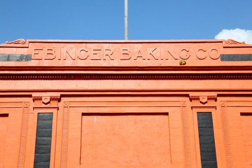 Surviving signage for the Ebinger Baking Company  Flatbush  Brooklyn