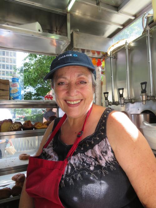 Joanna Despas  Mama Jo's Breakfast Cart  Park Ave.  Manhattan