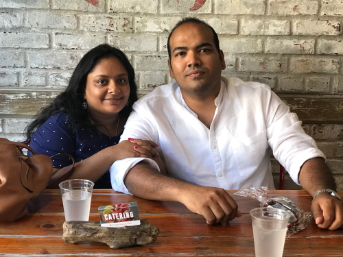 Yunus Shahul and wife  Saravana Bhavan  Manhattan