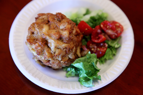 Lump crab cake  Faidley Seafood  Lexington Market  Baltimore
