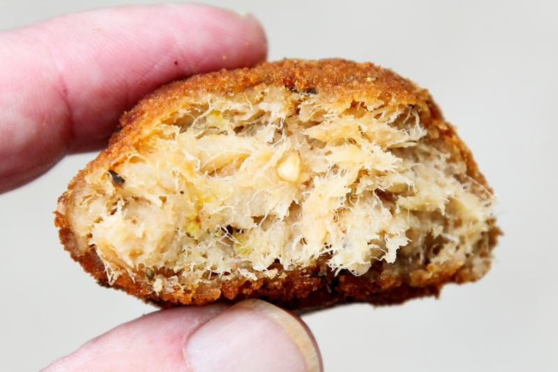 Salt fish ball (biteaway view)  Wadadli Style Bakery & Restaurant  Jersey City