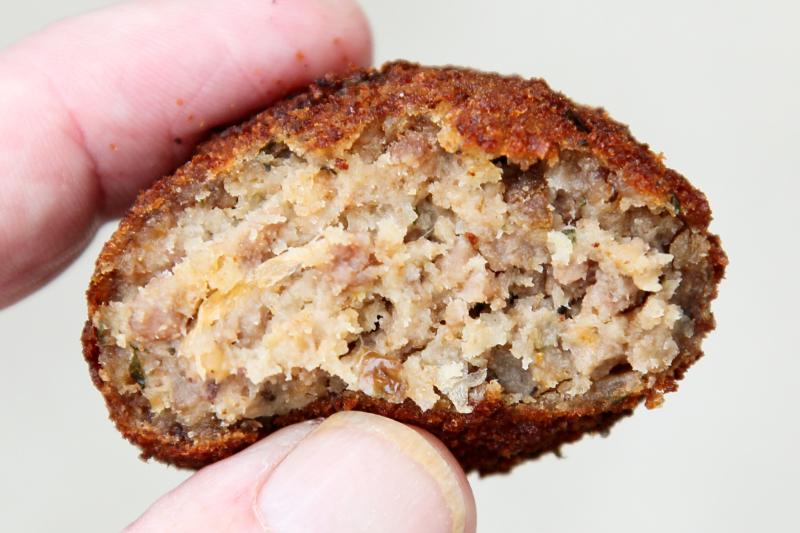 Meat ball (biteaway view)  Wadadli Style Bakery & Restaurant  Jersey City