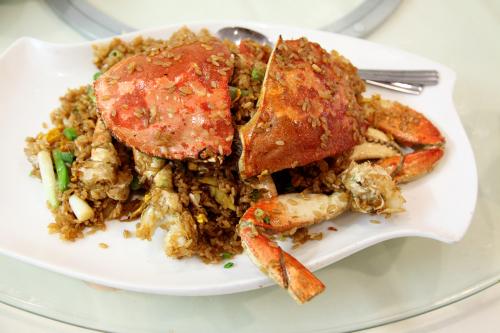Fried crab with sticky rice  Farmers Restaurant  Bensonhurst  Brooklyn