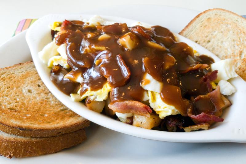 Breakfast poutine  Chez Ben Diner  Manchester  Connecticut