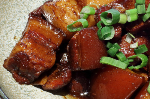 Braised pork with brown sauce (hong shao rou)  Atlas Kitchen  West 109th St  Manhattan