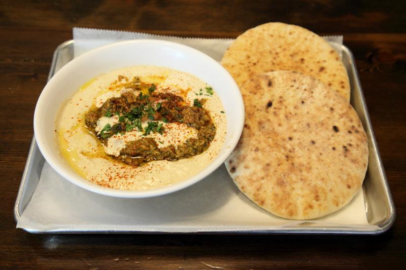Jerusalem hummus (with mashed fava beans)  Duzan  Astoria  Queens