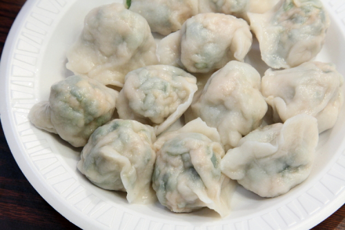 Pork-egg-chive dumplings  Tianjin Dumpling House  Golden Mall  Flushing  Queens