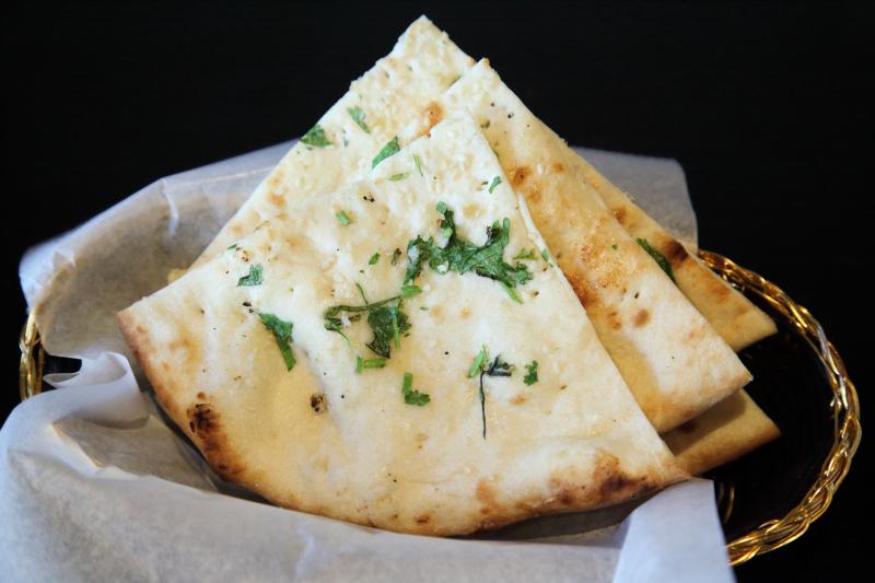 Garlic naan  Jalsa Grill & Gravy  Kensington  Brooklyn