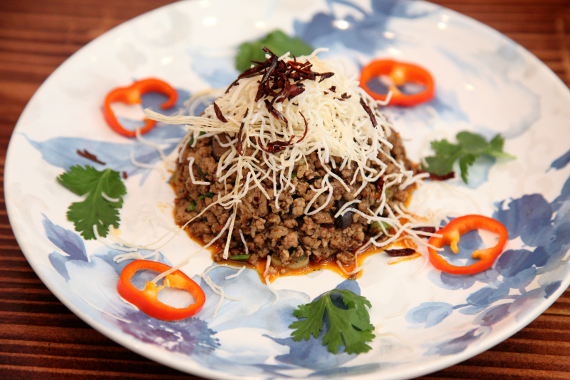 Larb neua  ground pork salad  Lamoon  Elmhurst  Queens