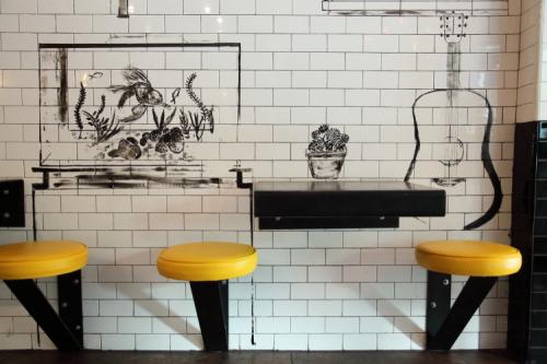 Dining-area mural (detail  Sandra Perez  2018)  Harlem Industrial Kitchen  East 110th St  Manhattan