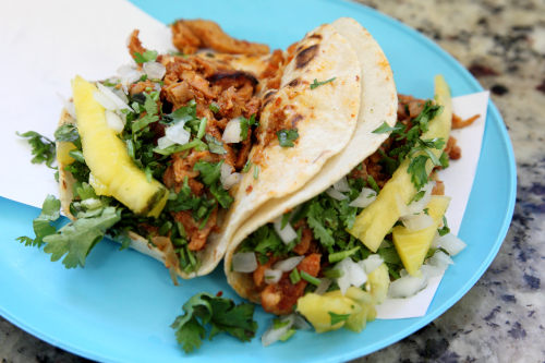 Tacos al pastor  Taqueria Brenda Lee  Passaic  New Jersey