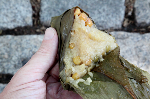 Corn and mung bean zongzi  Flushing  Queens