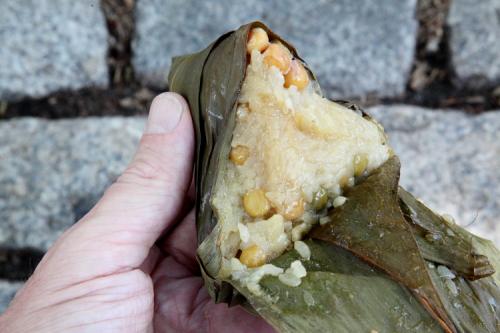 Corn and mung bean zongzi  Flushing  Queens