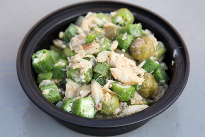 Okra and salt fish  Island Taste Cuisine  Wakefield  Bronx