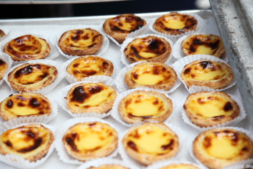 Pasteis de nata  egg tarts  Brazilian Day  West 46th St  Manhattan