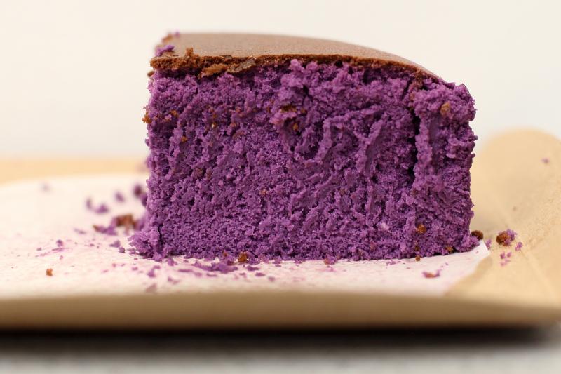 Ube bouncy cheesecake (cutaway view)  Keki Modern Cakes  East 32nd St  Manhattan