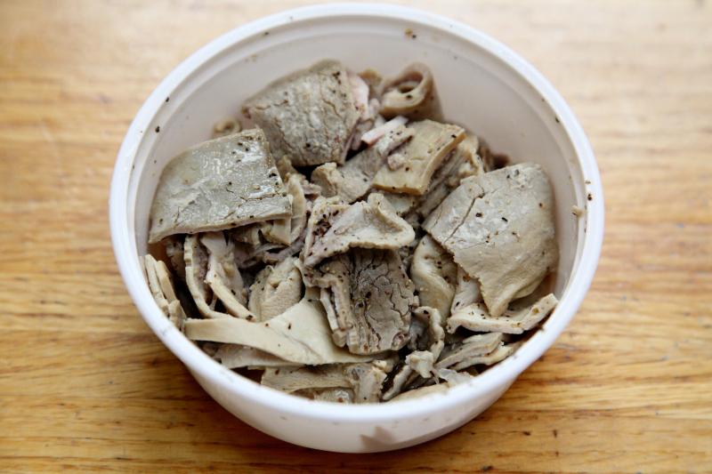 Vinegared hog maws  Country Kitchen  Lexington Market  Baltimore  Maryland