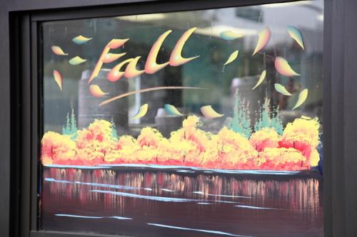 Fall decor  Gyro Uno Pizzeria Restaurant Cafe  Astoria  Queens