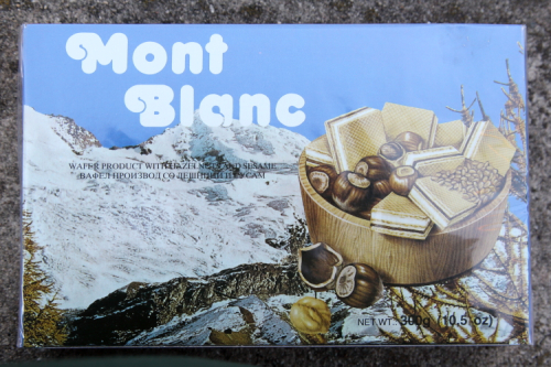 Mont Blanc brand hazelnut wafers  Albanian Market  Pelham Bay  Bronx
