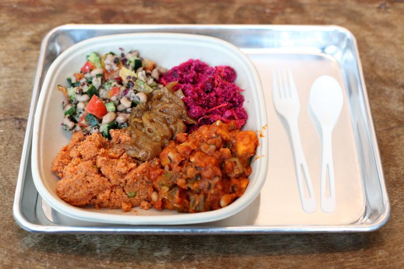 Vegetarian sampler  Teranga  The Africa Center  Fifth Ave  Manhattan