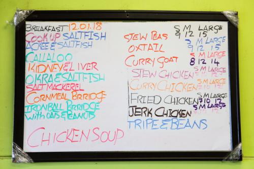 Menu board  Island Taste Cuisine  Wakefield  Bronx