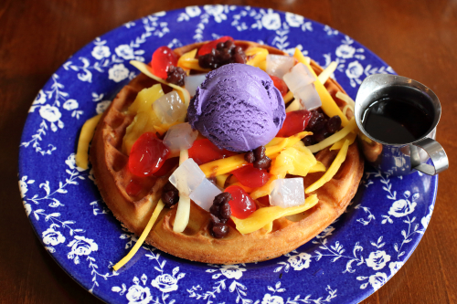 Halo-halo waffle  FOB  Carroll Gardens  Brooklyn
