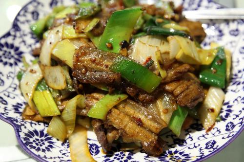 Double-cooked pork belly  Szechwan Absolute  Flushing  Queens