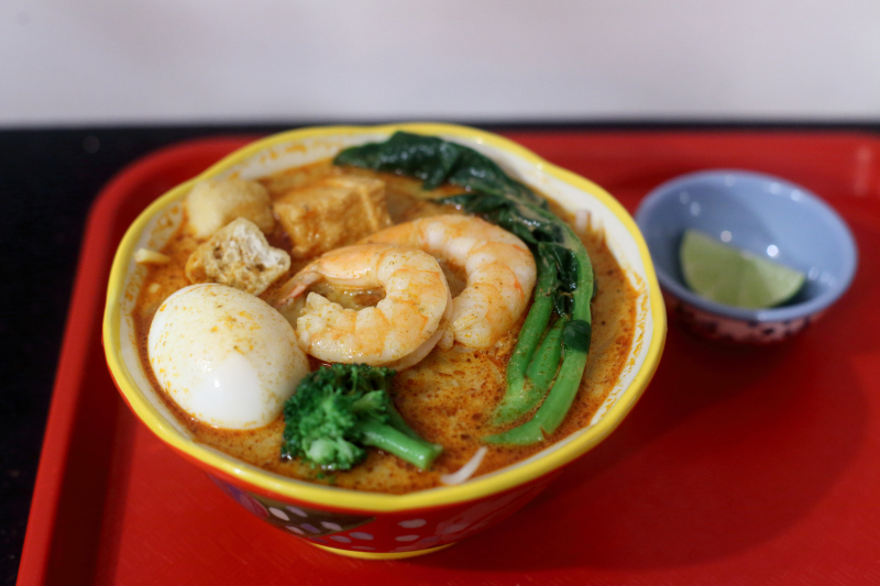 Curry laksa with shrimp  Perfect Taste  Canal St  Manhattan