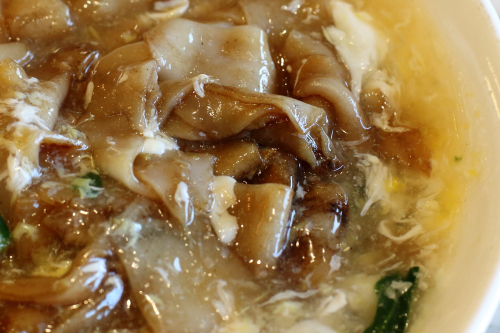 Wat dan hor (detail of noodles)  Koo Koo Chicken  Bensonhurst  Brooklyn