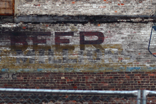 Beer  surviving signage (detail of millions)  Jersey City
