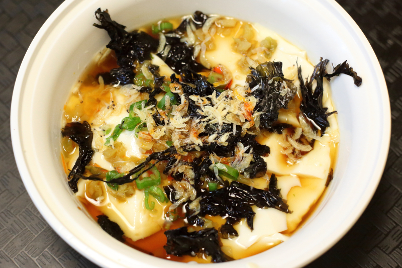 Tofu pudding with seaweed and dried shrimp  Memories of Shanghai  Forest Hills  Queens