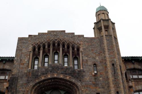 Yeshiva University High School (detail of upper story)  Amsterdam Ave  Manhattan