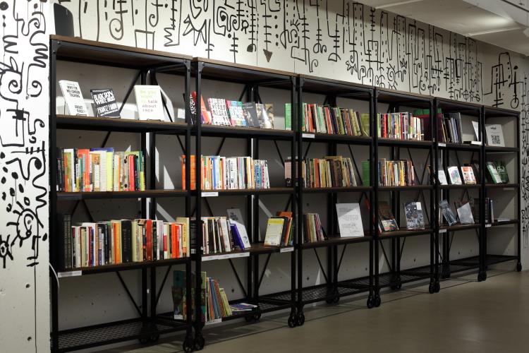 Reading room shelves  The Africa Center  Fifth Ave  Manhattan