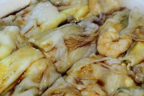 Shrimp and egg cheong fun  Joe's Steam Rice Roll  Flushing  Queens