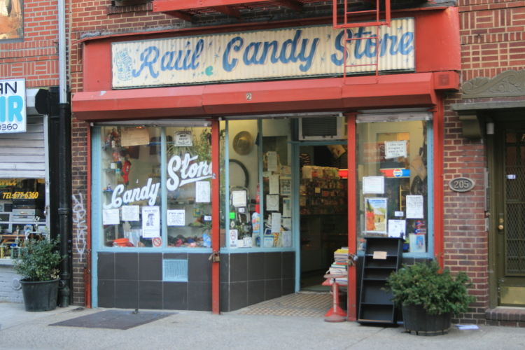Raul Candy Store (shown in 2008)  Ave B  Manhattan