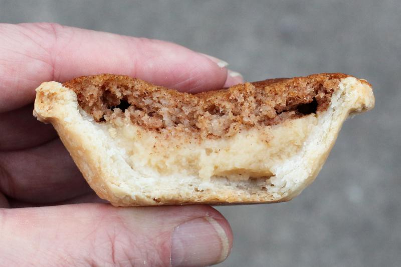 Bean pie (biteaway view)  Abu's Homestyle Bakery  Bedford-Stuyvesant  Brooklyn