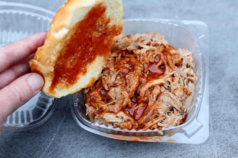 Chopped BBQ sandwich  Royal Rib House  Bedford-Stuyvesant  Brooklyn