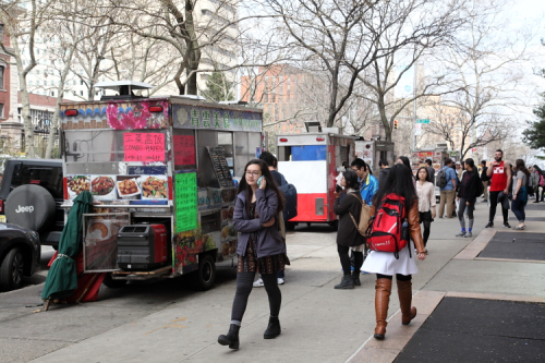 Food carts near the Columbia gates  Broadway  Manhattan