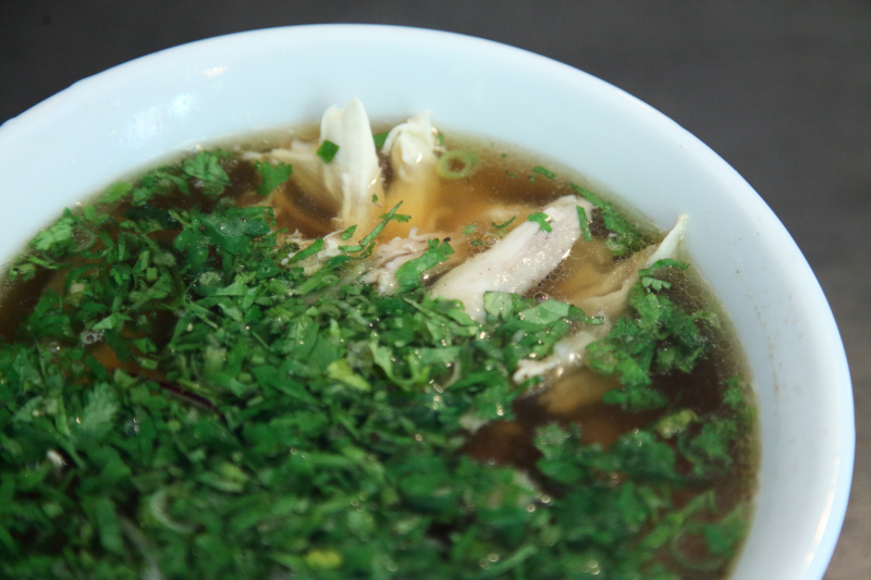 Pho ga (chicken soup)  Hanoi Soup Shop  St Mark's Pl  Manhattan