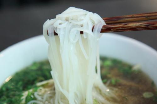 Pho ga (chicken soup; detail of noodles)  Hanoi Soup Shop  St Mark's Pl  ManhattanIMG_0621