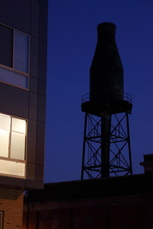 Milk-bottle-shaped water tower  the former Harbison's Dairies  Philadelphia