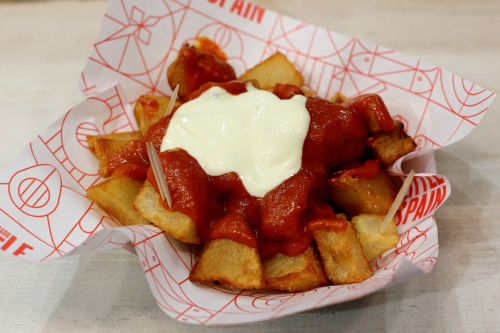 Patatas bravas  patatas bravas kiosk  Mercado Little Spain  Hudson Yards  Manhattan
