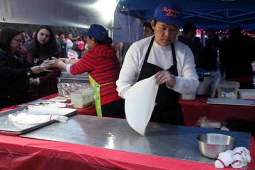 Preparing palata  Burmese Bites  Queens International Night Market  Flushing Meadows Corona Park  Corona  Queens