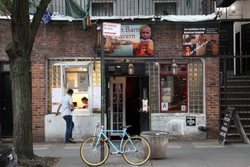 Foxface  kiosk at the William Barnacle Tavern  St Mark's Pl  Manhattan
